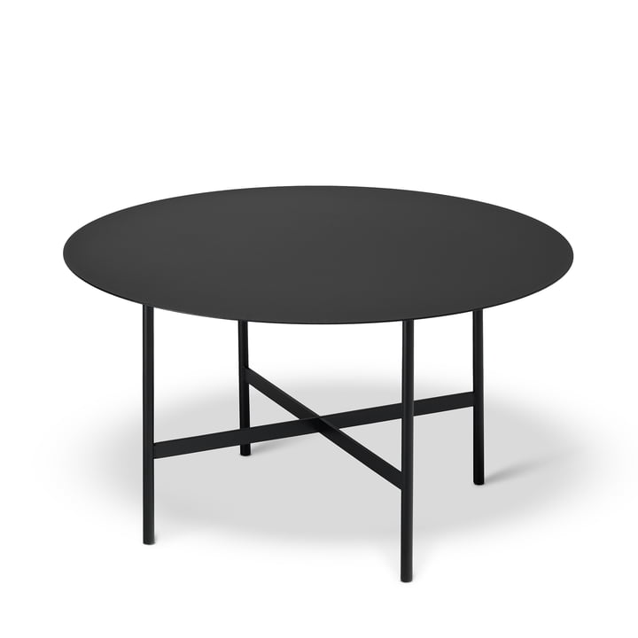 BETA Side table Ø 64 cm by Müller Möbelfabrikation in deep black
