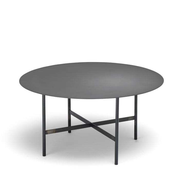 BETA side table Ø 64 cm from Müller Möbelfabrikation in smoked matt