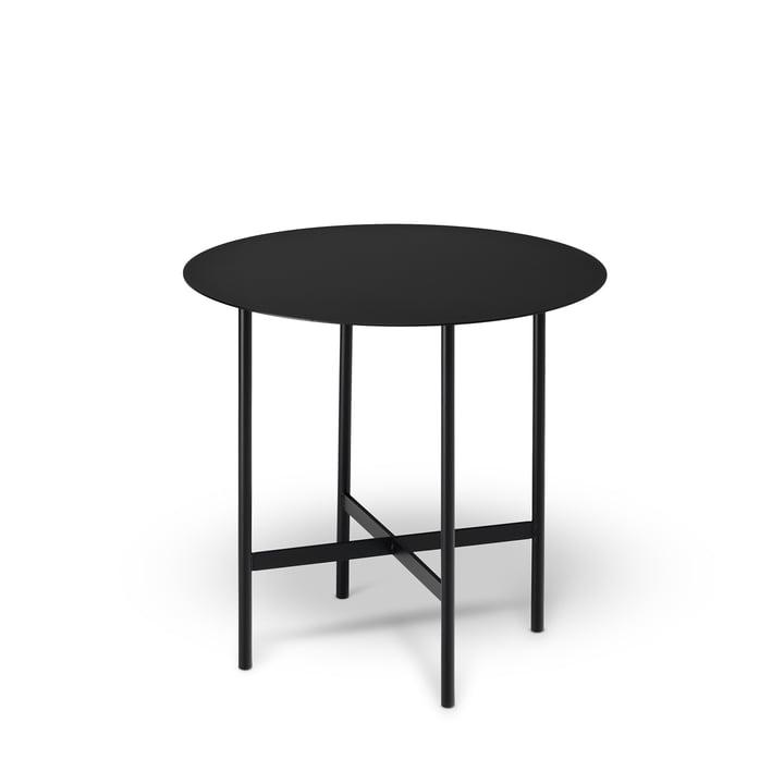 BETA Side table Ø 44 cm from Müller Möbelfabrikation in deep black