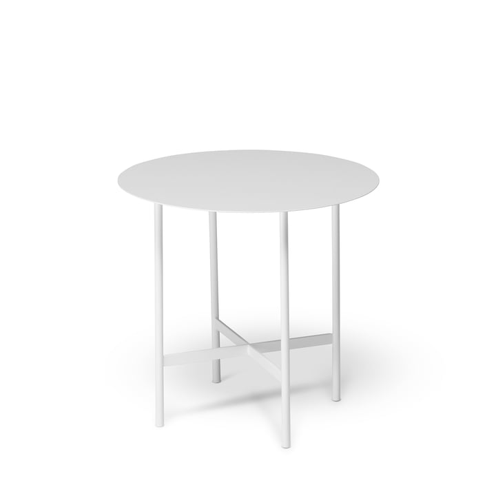 BETA Side table Ø 44 cm from Müller Möbelfabrikation in signal white