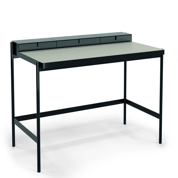 PS20 Secretary by Müller Möbelfabrikation in deep black / grey
