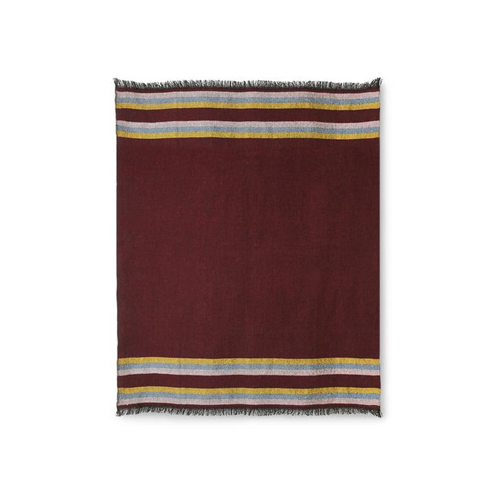 The DORIS Vintage blanket from HKliving , 130 x 150 cm, burgundy