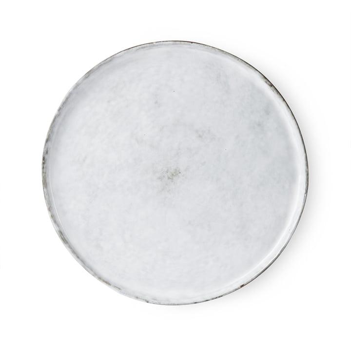 The Bold & Basic Ceramic plate from HKliving , Ø 28 cm, white