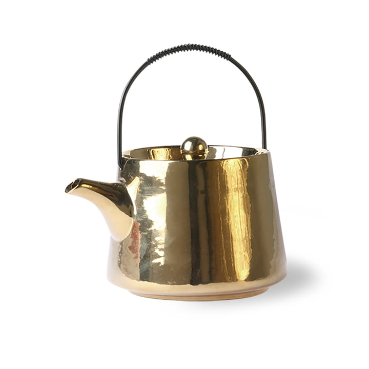 The Bold & Basic Ceramic teapot from HKliving , 0.7 l, gold