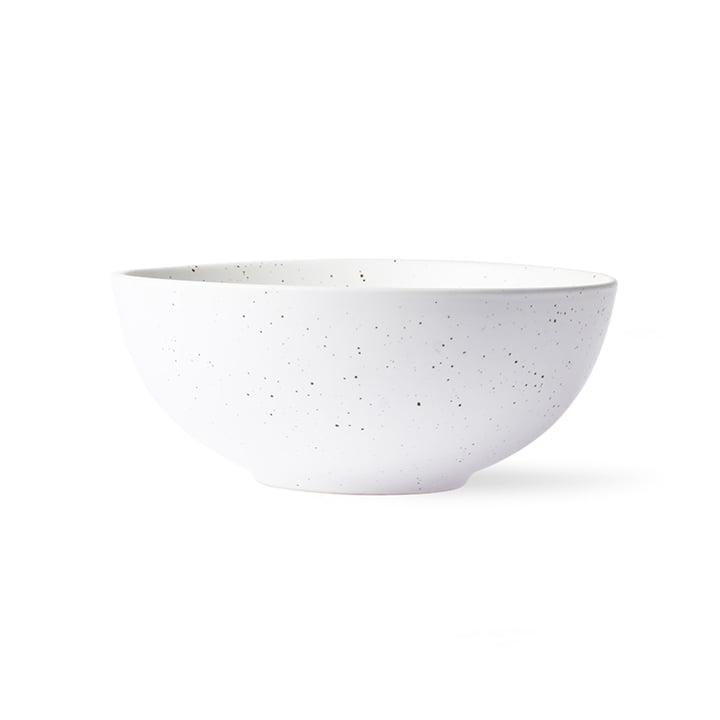 The Bold & Basic Ceramic bowl from HKliving , Ø 16 cm, white speckled