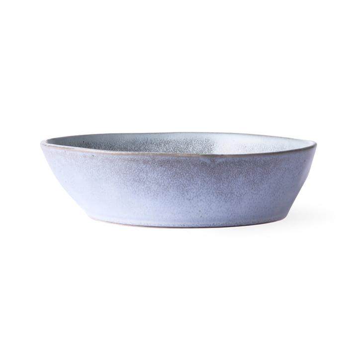The Bold & Basic Ceramic bowl from HKliving , Ø 19 cm, grey / blue