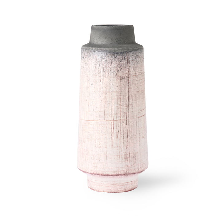The ceramic vase from HKliving , pink / gray