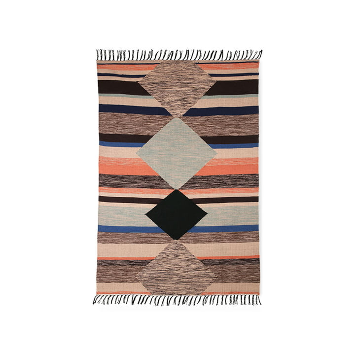 The colorful hand-woven Indoor / Outdoor carpet from HKliving , 120 x 180 cm