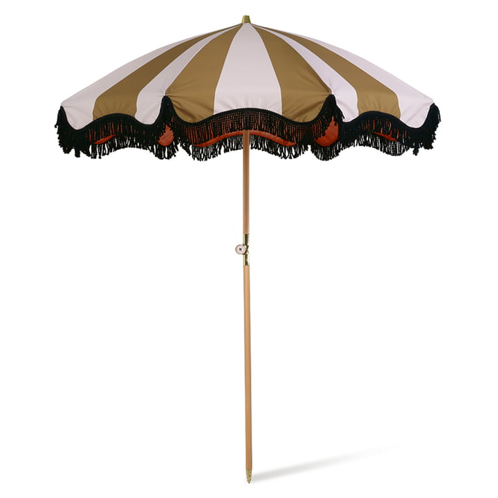 The parasol from HKliving , Ø 200 cm, nude / mustard