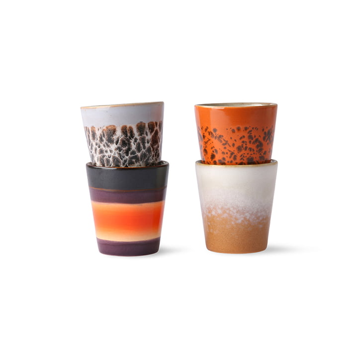 The 70's Ristretto mug from HKliving (set of 4)