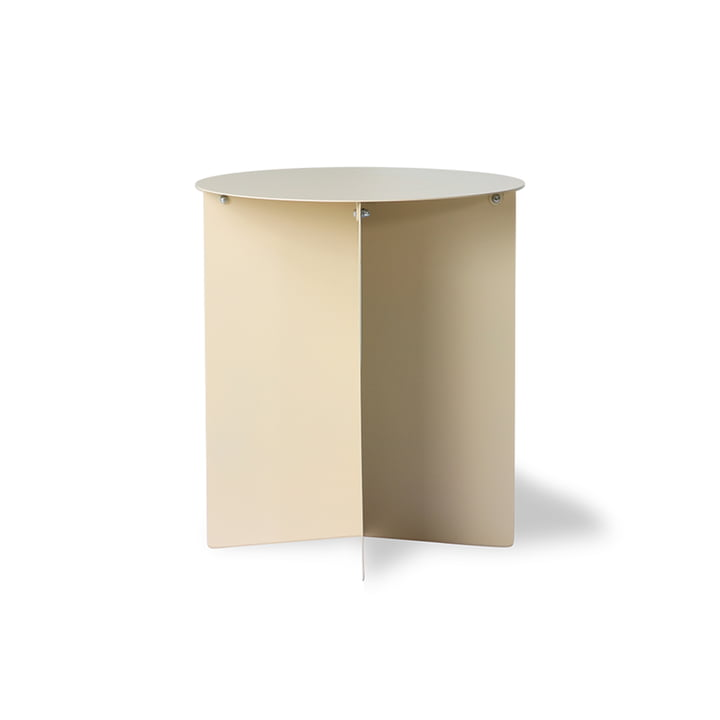 The metal side table round from HKliving , Ø 40 cm, cream