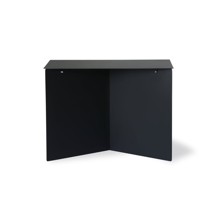The metal side table rectangular from HKliving , 55 x 36 cm, black