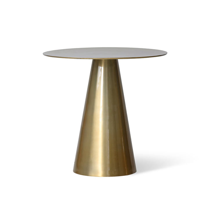 The brass side table from HKliving , Ø 49 cm