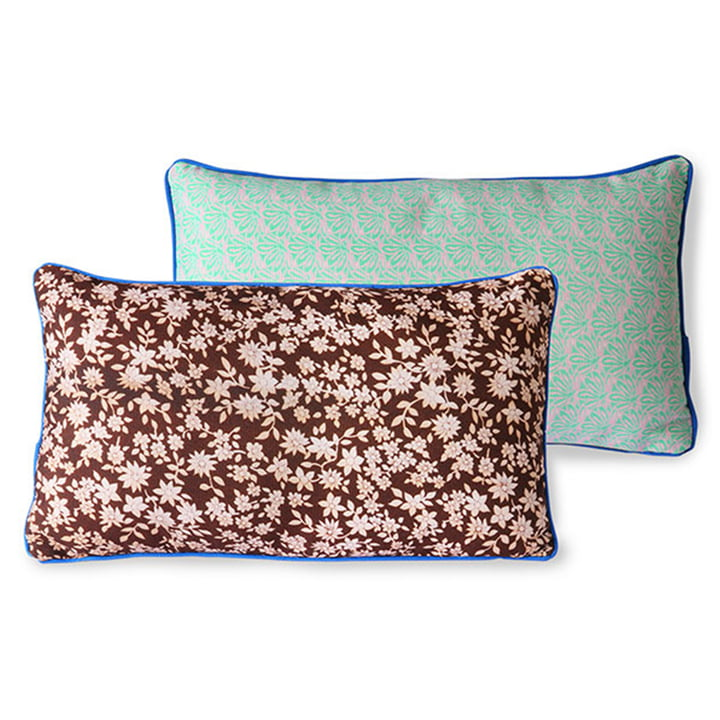 The DORIS Vintage cushion from HKliving , 35 x 60 cm, brown