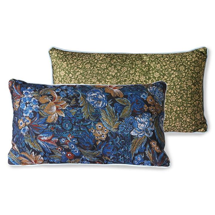 The DORIS Vintage cushion from HKliving , 35 x 60 cm, blue