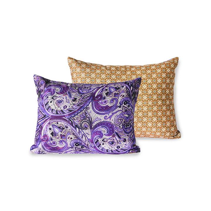 The DORIS Vintage cushion from HKliving , 30 x 40 cm, purple