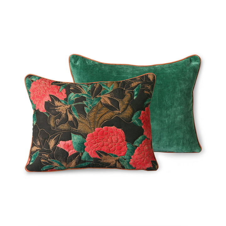 The DORIS Vintage cushion from HKliving , 30 x 40 cm, floral red