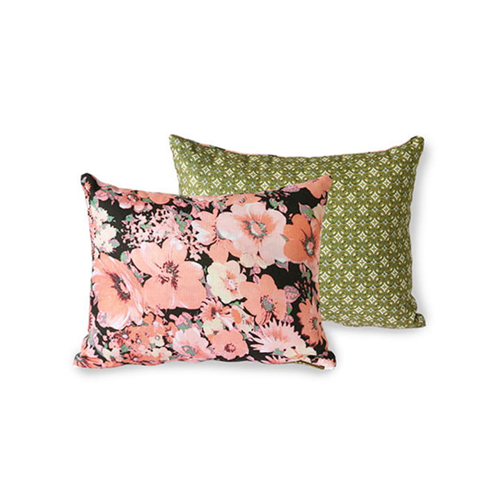 The DORIS Vintage cushion from HKliving , 30 x 40 cm, floral pink