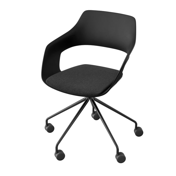 The Occo 222/41 swivel chair from Wilkhahn , black