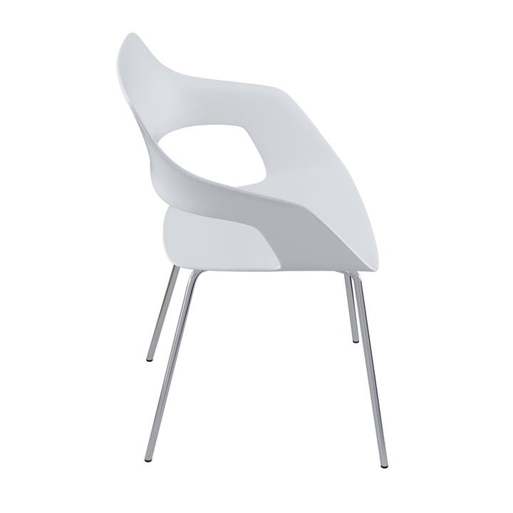 The Occo 222/10 chair from Wilkhahn , chrome / white