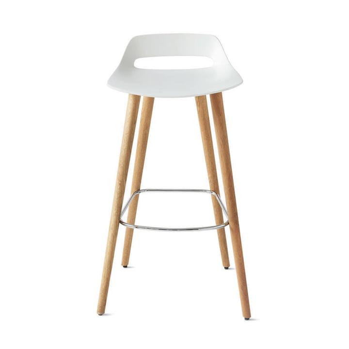 The Occo bar stool from Wilkhahn , white