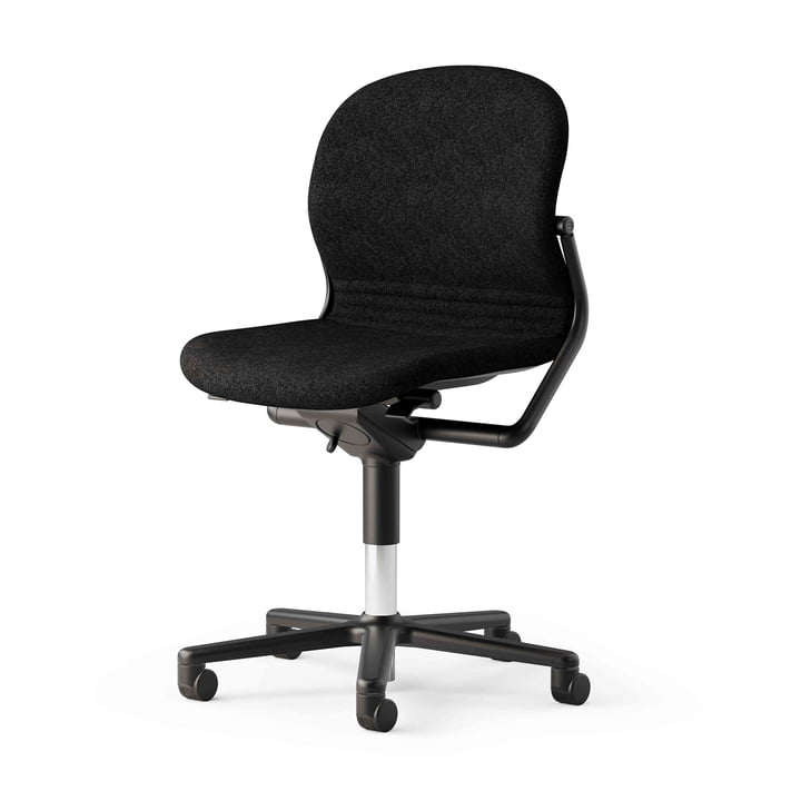 The FS 211/8 office chair without armrests from Wilkhahn , black / black