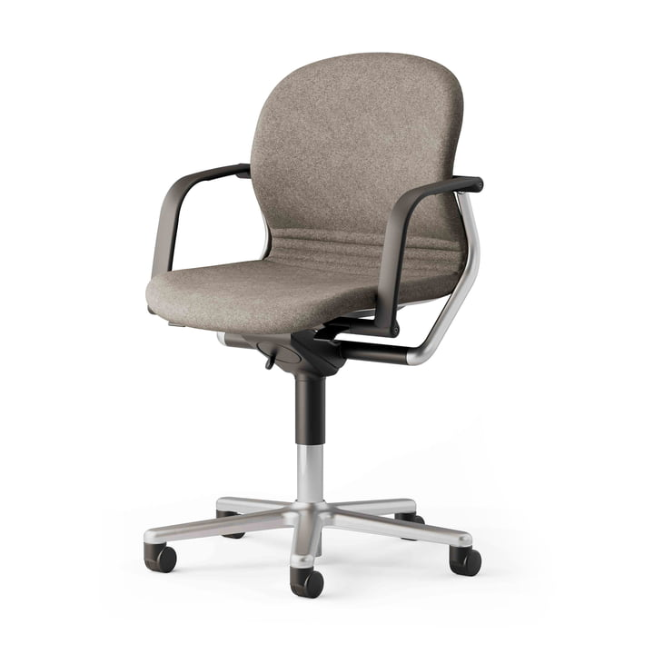 The FS 211/8 office chair with armrests from Wilkhahn , white / beige