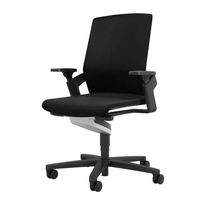 The 174/7 ON office swivel chair from Wilkhahn , black