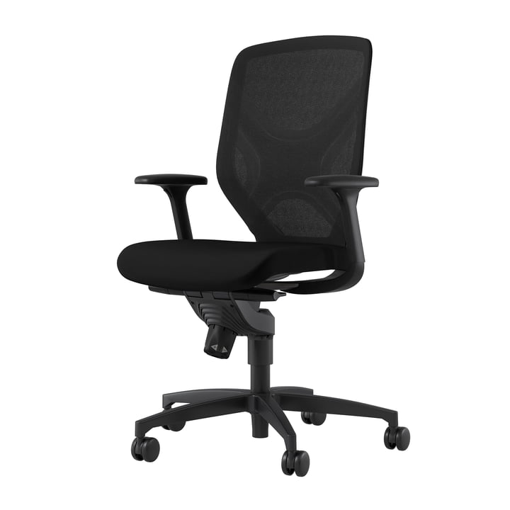 The IN 184/7 office swivel chair from Wilkhahn , black