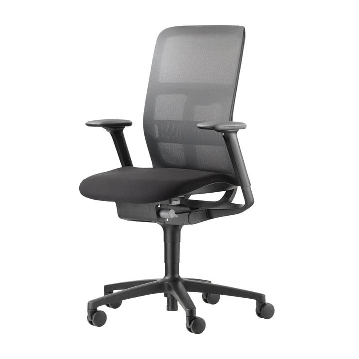 The AT 187/71 Mesh office swivel chair from Wilkhahn , black