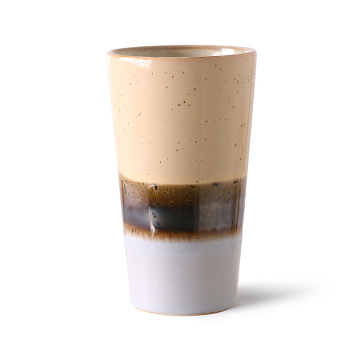 The 70's latte macchiato cup from HKliving , lake