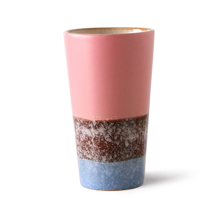 The 70's latte macchiato cup from HKliving , reef
