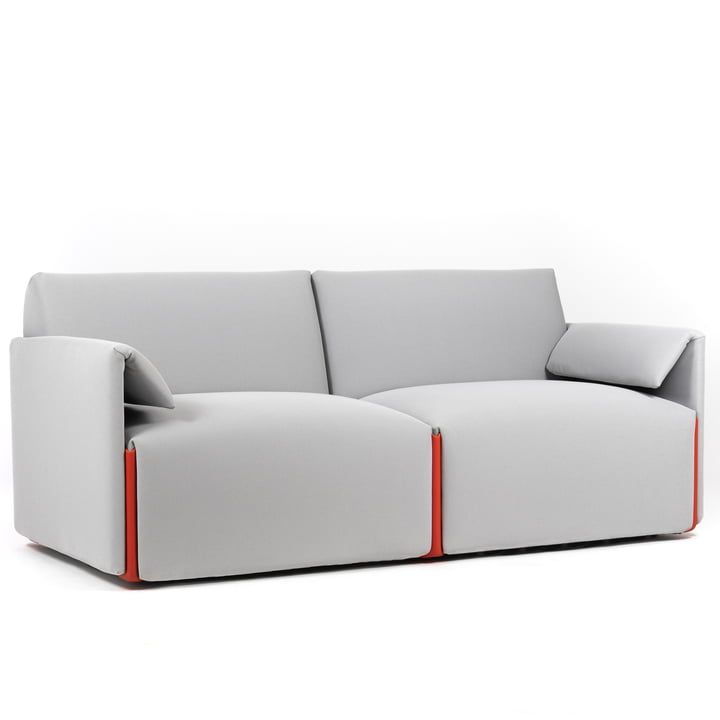 Costume sofa 2-seater, composition B with armrests, Fidivi One 8504 / orange 1110C by Magis