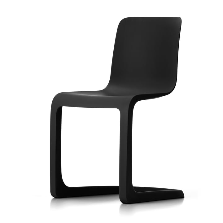 The EVO-C all-plastic chair from Vitra , graphite grey