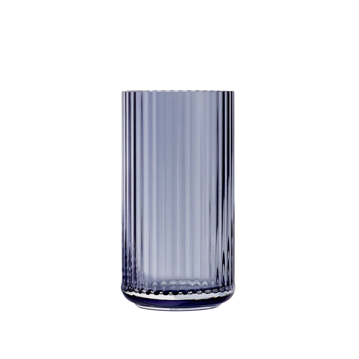 Glass vase H 15,5 cm from Lyngby Porcelæn in midnight blue