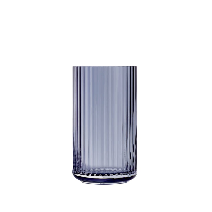 Glass vase H 12,5 cm from Lyngby Porcelæn in midnight blue