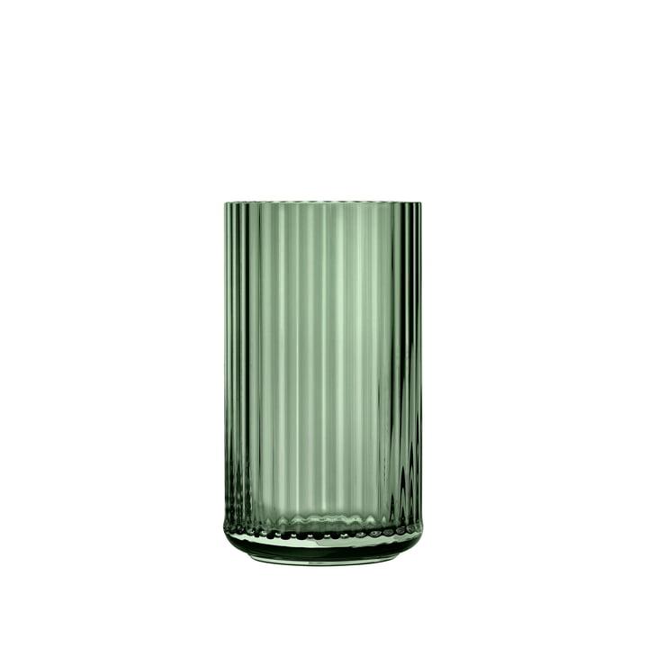 Glass vase H 12,5 cm from Lyngby Porcelæn in green