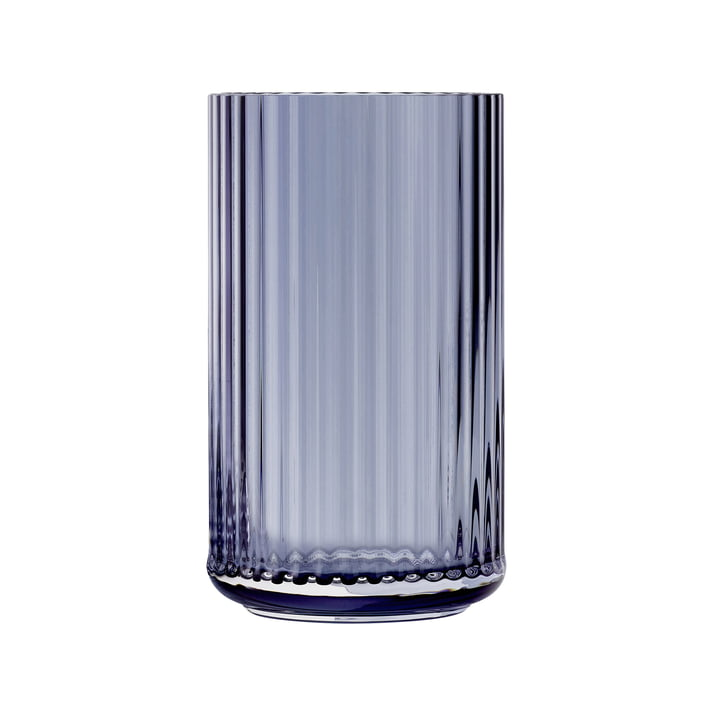 Glass vase H 25 cm from Lyngby Porcelæn in midnight blue