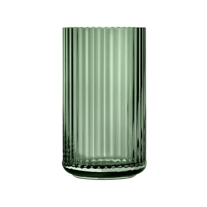 Glass vase H 25 cm from Lyngby Porcelæn in green