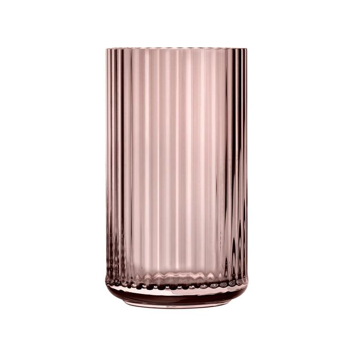 Glass vase H 25 cm from Lyngby Porcelæn in burgundy