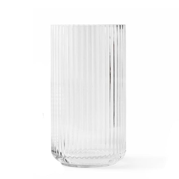 Glass vase H 31 cm from Lyngby Porcelæn in transparent