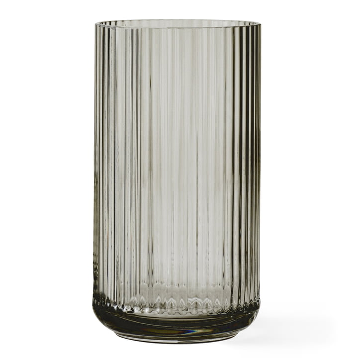 Glass vase H 38 cm from Lyngby Porcelæn in smoke
