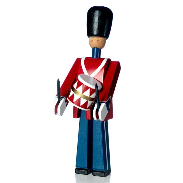 Drummer wooden figure, red / blue / white from Kay Bojesen