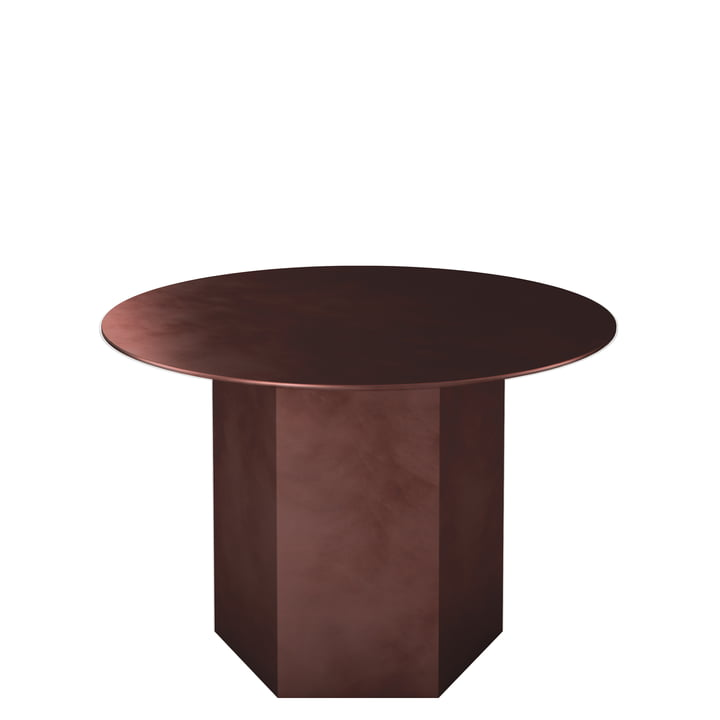 Epic Coffee table Ø 60 cm from Gubi in earthy red / steel