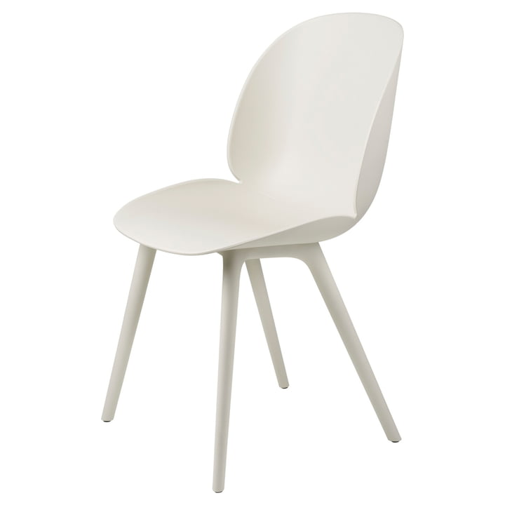 Beetle Dining Chair Outdoor from Gubi in alabaster white