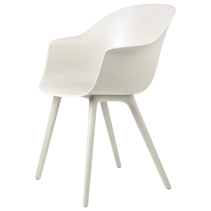 Bat Dining Chair Outdoor from Gubi in alabaster white