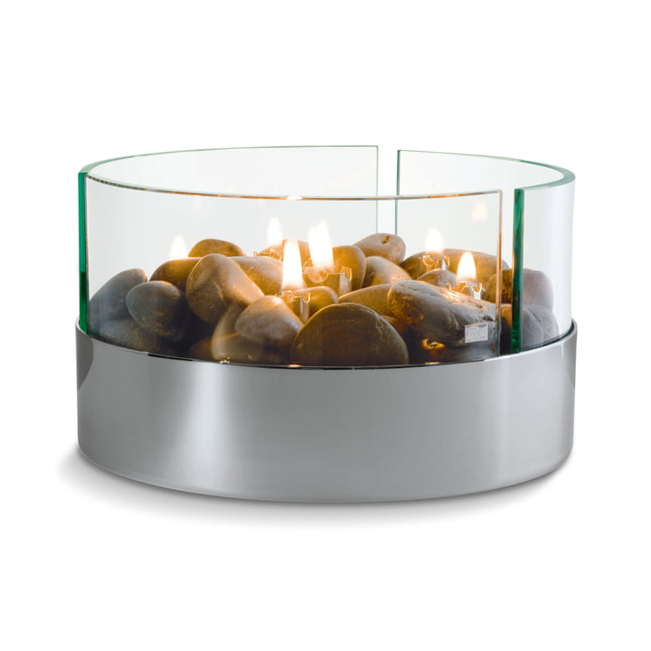 Burn Table fireplace Ø 20 cm from Philippi in silver