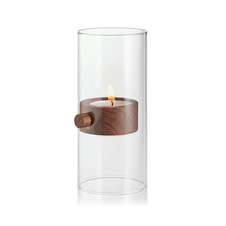 Lift Tealight holder XL Ø 9 cm from Philippi in walnut