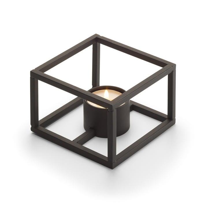 Cubo Tealight holder for 1 tealight 10 x 10 cm from Philippi in black