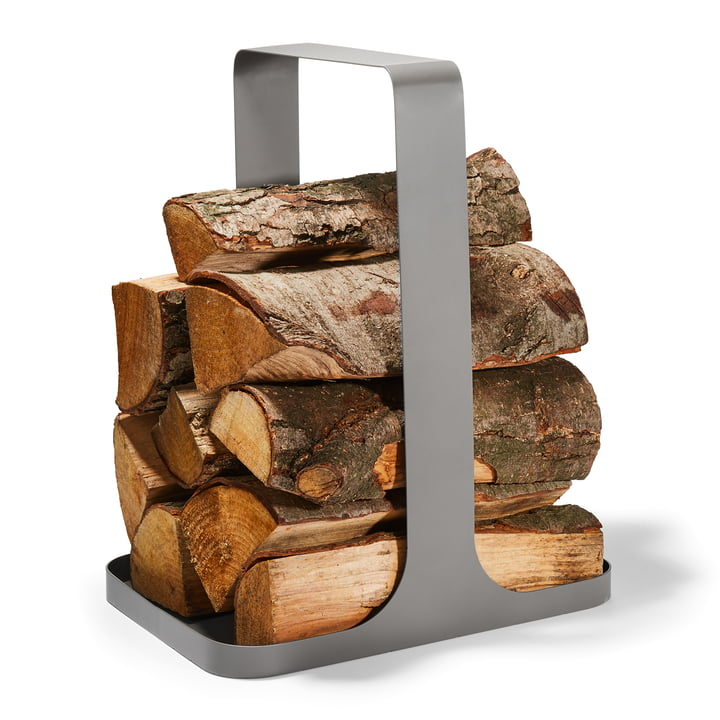 Log Firewood storage from Philippi in grey